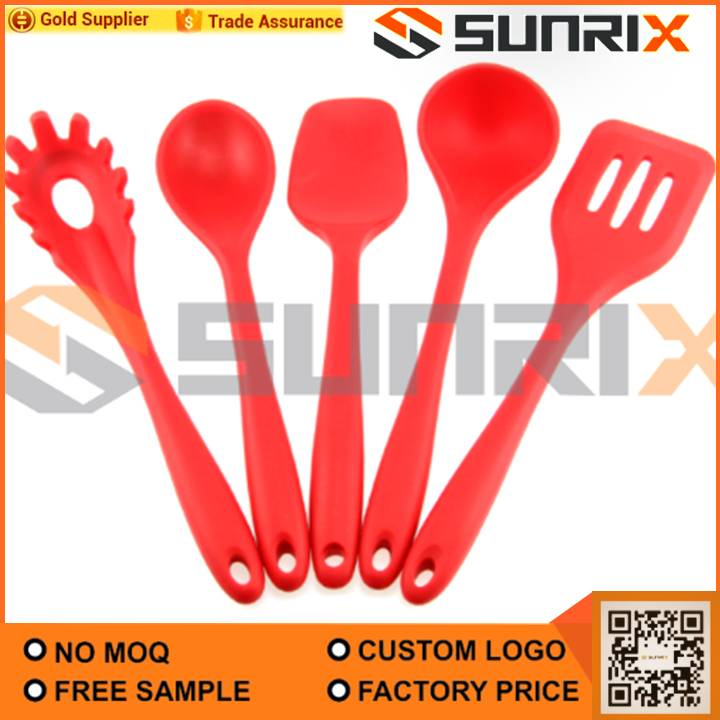 Home / Cooking Tools / Utensils / Silicone Kitchen Utensil Set 5 Piece Heat  Resistant Non Stick Baking Tool Silicone Utensils Cooking Tools